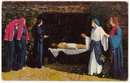 Mary Takes Leave Of Her Son At The Tomb, Josef Meier As Christ, Unused Postcard [17629] - Jesus