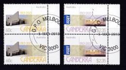 Australia 2013 Canberra Centenary Set As Vertical Pairs CTO - 2010-... Elizabeth II