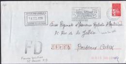 Lettre FD De 40 Mont De Marsan CDIS 15-12 1999 Pour Bordeaux Cedex FD Apposé à 35 Rennes RP - Abarten Und Kuriositäten