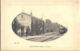 C  P  A   -  BOULOURIS  Sur   Mer  La Gare  Avec  Le  Train - Boulouris