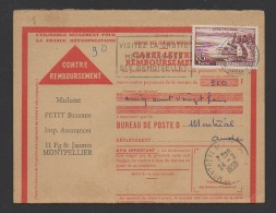 DF / FRANCE / TP 1193 EVIAN-LES-BAINS / OBL. MONTPELLIER CENTRALISATEUR 2 -2 1959 HERAULT + FLAMME - Cartas