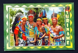 SURINAM  -  World Indigenous Day  Arowak Cultural Group   Used Postcard As Scans - Surinam