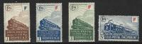"""FR Colis Postaux YT 200 à 203 """" Avec La Lettre F Sur Cartouche """" 1942-43 Neuf* - Paketmarken"""