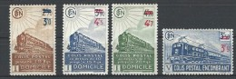"""FR Colis Postaux YT 204 à 207 """" Avec Surcharge """" 1943 Neuf* - Paketmarken"""