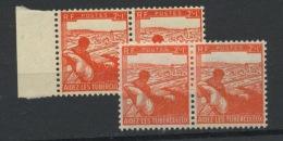 FRANCE -  TUBERCULOSE - N° Yvert  736** EN PAIRE IMP. NORMALE ET CLAIRE - Unused Stamps
