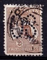 Australia 1913 Kangaroo 2 Shillings 1st Watermark Large OS Used - - 1913-48 Kangaroos