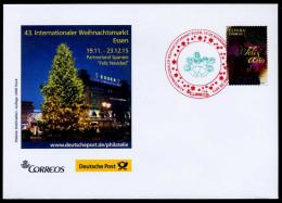 38240) Spanien - Brief - Michel 5020 - SoST Zweifarbig ESSEN Vom 19.11.2015 - Weihnachtsmarkt - Poststempel - Freistempel