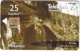 SLOVENIA SLOVENIJA PHONECARD 2003 VINIČAR VINEDRESSER VINICULTURE COTTAGES CULTURAL HERITAGE TELEKOM CAT.NO. 509 - Slovenia