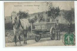 HAZEBROUCK Un Tombereau Flamand ,attelage Cheval Avec Fermier , Agriculture - Hazebrouck