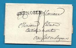 Isère - Grenoble Pour Pont En Royans. LAC De 1789 - Poststempel (Briefe)