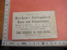 Luxemburg Keine POSTKARTEN  Dampf Seifenfabrik Gustav Berchem's - 6 Chromos SERIE Litho  Vexierbilder  -  1 Carte Visite - Lussemburgo
