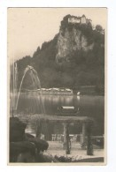 SLOVENIJA SLOVENIA  BLED GRAD JEZERO 1932 BROMOGRAFIJA LOJZE SMUC STARA RAZGLEDNICA OLDPOSTCARD - Slovenia