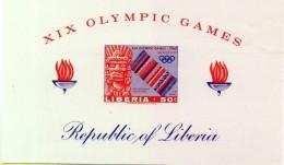 PIA - LIBERIA - 1967 : XIX Olimpiade Di Cittù Del Messico -  (YV   Bf  40a) - Giochi Olimpici