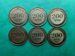 Armenia 200 Dram 2014 (Lot Of 6 Coins) - Arménie