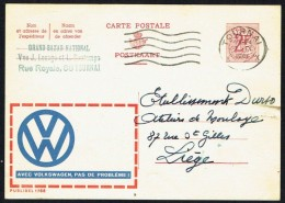 """CP Public. N° 1788 """" AVEC VOLKSWAGEN, PAS DE PROBLEME ! """" - Circulé / Circulated - 1961. - Werbepostkarten"""