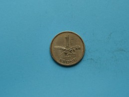 1946 - 1 Krone - KM 835 ( Uncleaned Coin / For Grade, Please See Photo ) !! - Danemark