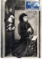 1943 - YT N° 583 - Hôtel Dieu De Beaune - Journée Du Timbre GF - 21-07-1943 - Maximum Cards
