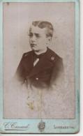 PHOTO SUR CARTON - C. CANARD - LOUHANS - JEUNE GARCON - Ancianas (antes De 1900)