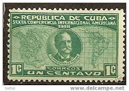 CUBA Yvert # 191 **  Scott # 284 ** MNH People / Personajes - Cuba