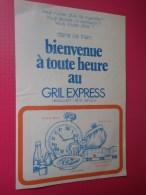 Gril Express . Restaurant - Libre Service. - Publicités