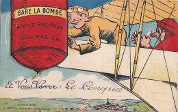 Bb - Carte à Système Complète -LE CONQUET - Gare La Bombe, N'ayez Pas Peur, Ouvrez La Et Vous Verrez : - Le Conquet