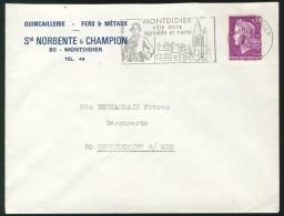 Montdidier - Flamme 1968 - Ville Saine  Agréable Et Riante  - Quincaillerie Fers Et Métaux Norbente Et Champion - Sellados Mecánicos (Publicitario)
