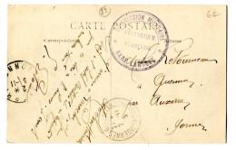Ref 199 - OBLITERATION MILITAIRE COMMISSION MILITAIRE GARE LAROCHE - 2 Nov. 1915 - LAROCHE GARE ET PASSERELLE - Guerre De 1914-18