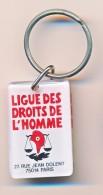 PC: Porte Clefs Rectangulaire : Bourbon, La Ligue Des Droits De L´homme 27 Rue Jean Dolent à Paris - Portachiavi