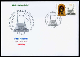 38300) BRD - FDC - Michel 3240 - ESST 10117 BERLIN Vom 02.05.2016 - 85C  Altötting, Kirche - [7] West-Duitsland