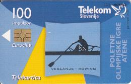 SLOVENIA SLOVENIJA PHONECARD 2004 OI ATENE VESLANJE SOG ATHENS ROWING TELEKOM CAT.NO. 587 - Jeux Olympiques