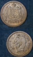 M_p> Monaco 2 Franchi ( 1945 ) - Bronzo - Alta Conservazione - 1922-1949 Luigi II