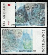 BILLET ECHANTILLON RAVEL CORRESPONDANT AU 200 FRANCS EIFFEL . - Specimen