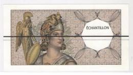 ÉCHANTILLONS DESTINES AUX ESSAIS DAB - 100 FRANCS Delacroix / Athéna Avec Barre Horizontale Noire - Rare - Fiktive & Specimen