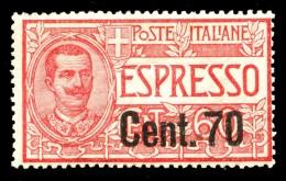 REGNO 1922 Espressi Cent. 70 C. Su 60 MNH ** Integro Espresso - 1900-44 Vittorio Emanuele III
