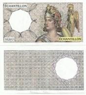 ECHANTILLON N° : 10202 . TESTS  POUR DISTRIBUTEURS . MODELE DU 200 FRANCS MONTESQUIEU . - Specimen
