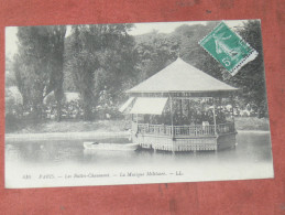 PARIS  / ARDT 19 LES BUTTES CHAUMONT LE KIOSQUE DE MUSIQUE MILITAIRE    1910   EDIT - Arrondissement: 19