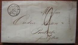 1845  Paris A Lettre Pour Pontoise, Veuve Champet Et Pinatel, Voir Photos ! - Marcophilie (Lettres)