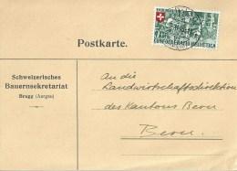 """Motiv Karte  """"Schweizerisches Bauern Sekretariat, Brugg""""             1945 - Svizzera"""