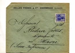 Lettre Cachet Oberbruck  Sur Germinia Entete Zeller - Brieven En Documenten