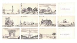 Lot De 10 Cpa - PARIS 1900 - CARTE A SYSTEME - Magique - CONTRE LA LUMIERE - Dos Vierge Précurseur -11 Scans - Tegenlichtkaarten, Hold To Light