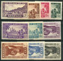 Senegal (1939) N 160 à 169 * (charniere)