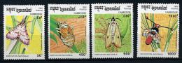 Cambodge ** N° 1166 à 1169 - Insectes. Papillons - - Schmetterlinge