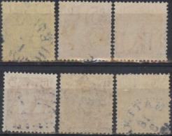 Suecia 1910-19YT 64-65, 70, 105 Usados. Con Filigrana KUNGL. POSTVERKET. 2scan. - Suède