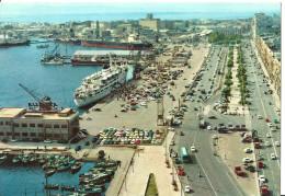 Cagliari (Sardegna) Il Porto E Via Roma, Imbarco/Sbarco Passeggeri, Harbour And Rome Street, Hafen Und Rom Strasse - Cagliari