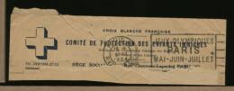 PARIS - JEUX OLYMPIQUES  PARIS  MAI-JUIN-JUILLET  1924  -  CROIX BLANCHE FRANCAISE Protection Enfants Immigres