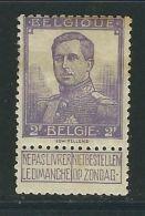 BELGIQUE N° 117 * - 1915-1920 Albert I