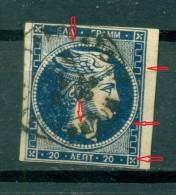 GREECE LARGE HERMES HEAD 20 L. 1875 - 1880  Pos 110 - 1861-86 Grande Hermes
