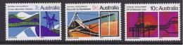 INDUSTRIAS - AUSTRALIA 1970 - Yvert #416/18/19 - MNH ** Serie Incompleta - Fábricas Y Industrias