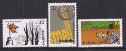 PROTECCION MEDIO AMBIENTE - AUSTRALIA 1975 - Yvert #554/56 - MNH ** - Protección Del Medio Ambiente Y Del Clima