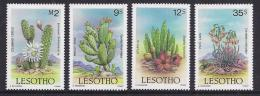 CACTUS - LESOTHO 1986 - Yvert #667/70 - MNH ** - Cactus
